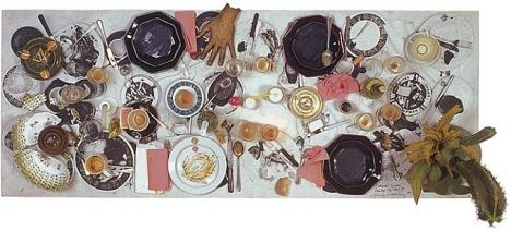 Daniel Spoerri, Tisch, Handschirn Hammerausstellung, 1930