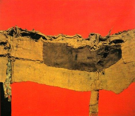 Saccheggio e Rosso, 1954,  Alberto Burri