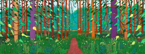 David Hockney, The arival of spring, 2011