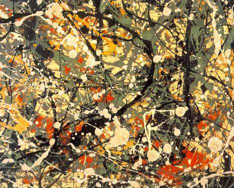 Pollock,.number-8, 1948 (détail)